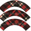 Red Large Plaid Personalize it! ~ Cupcake Wrapper ~ Set of 1 Dozen