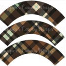 Brown Large Plaid Personalize it! ~ Cupcake Wrapper ~ Set of 1 Dozen