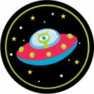 Spaceship Thanks For Making My Birthday Out of This World ~ Cupcake Topper ~ Set of 1 Dozen