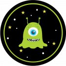 Space Monster Thanks For Making My Birthday Out of This World ~ Cupcake Topper ~ Set of 1 Dozen