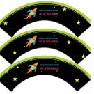 Rocket Thanks For Making My Birthday Out of This World ~ Cupcake Wrappers ~ Set of 1 Dozen