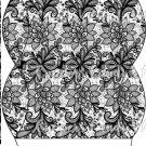Black & White Floral Lace ~ Pillow Treat Gift Box Each