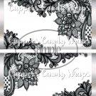 Black & White Floral Lace ~ Standard 1.55 oz Candy Bar Wrapper  SOE 1 Dozen