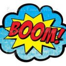 Super Hero Heroes Boom  ~ Cupcake Topper ~ Set of 1 Dozen