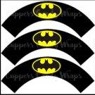 Black Batman Bat Signal Super Heroes ~ Cupcake Wrappers ~ Set of 1 Dozen