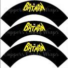 Black Batman Bat Logo Super Heroes ~ Cupcake Wrappers ~ Set of 1 Dozen