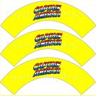 Yellow Captain America #2 Super Heroes ~ Cupcake Wrappers ~ Set of 1 Dozen