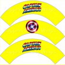 Yellow Captain America #3 Super Heroes ~ Cupcake Wrappers ~ Set of 1 Dozen