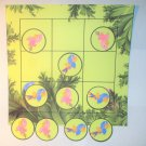 Tic Tac Toe Game ~ Tropical Bird Birds Parrot