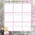 Tic Tac Toe Game ~ Bride and Groom Personalize Optional
