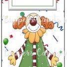 Candy Bar Gift Tag Happy Birthday Clown