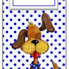 Candy Bar Gift Tag Puppy Dog