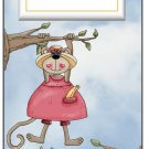 Candy Bar Gift Tag Girl Boy Monkey