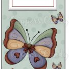 Candy Bar Gift Tag Pastel Butterflies