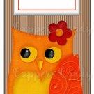 Candy Bar Gift Tag Orange Owl