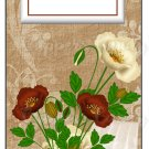 Candy Bar Gift Tag Red Flower Blossoms