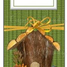 Candy Bar Gift Tag Fall Birdhouse