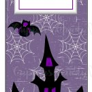Candy Bar Gift Tag Purple Halloween Haunted House