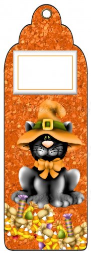 Candy Bar Gift Tag Halloween Black Cat