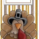 Candy Bar Gift Tag Thanksgiving Turkey