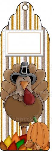 Candy Bar Gift Tag Thanksgiving Turkey