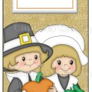 Candy Bar Gift Tag Thanksgiving Pilgrims