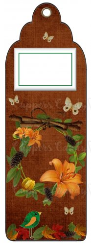 Candy Bar Gift Tag Thanksgiving Fall Wreath Tiger Lily