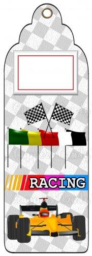 Candy Bar Gift Tag Sports Car Racing