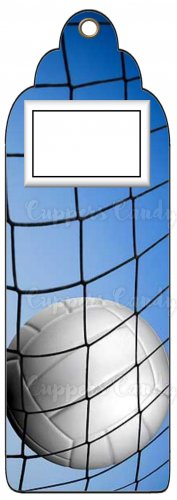 Candy Bar Gift Tag Sports Volleyball