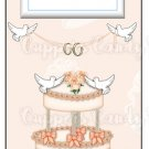 Candy Bar Gift Tag Wedding Cake & Doves
