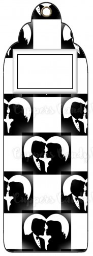 Candy Bar Gift Tag Wedding Bride & Groom Black and White