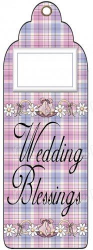 Candy Bar Gift Tag Wedding Blessings