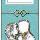 Candy Bar Gift Tag Wedding Metallic Silhouette