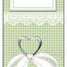 Candy Bar Gift Tag Wedding Green Heart & Lace
