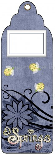 Candy Bar Gift Tag Spring Ladybugs Lady Bug