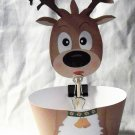Black Nosed Reindeer Cupcake Wrapper & Topper Set
