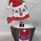 Christmas Penguin Cupcake Wrapper & Topper Set