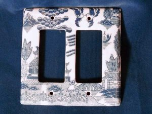Blue Willow 2 Switch Plate