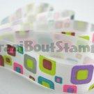 15mm x 1 Meter Retro Square Satin Printed Ribbon (FREE S&H)