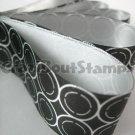 15mm x 1 Meter Retro Circles Satin Printed Ribbon (FREE S&H)