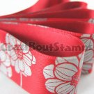 15mm x 1 Meter Floral Satin Printed Ribbon (FREE S&H)