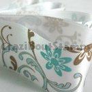 24mm x 1 Meter Floral Satin Printed Ribbon (FREE S&H)