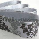 24mm x 1 Meter Damask Satin Printed Ribbon (FREE S&H)