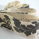 24mm x 1 Meter Floral Satin Printed Ribbon (FREE S&H)