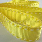 18mm x 20 Yards Yellow Stitched Grosgrain Ribbon (FREE S&H)