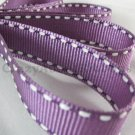 18mm x 20 Yards Purple Stitched Grosgrain Ribbon (FREE S&H)