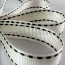 18mm x 20 Yards Beige Ivory Stitched Grosgrain Ribbon (FREE S&H)