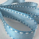 18mm x 20 Yards Baby Blue Stitched Grosgrain Ribbon (FREE S&H)