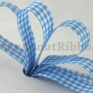 12mm x 36 Yards Baby Blue Checkered Ribbon (FREE S&H)