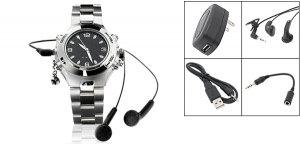 """Rock & Roll"" MP3 Quartz Wrist Watch 256MB (SDX-218) - Silver"